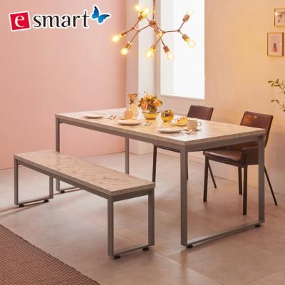 스틸마블 6인용 식탁테이블 1800x800+벤치의자세트