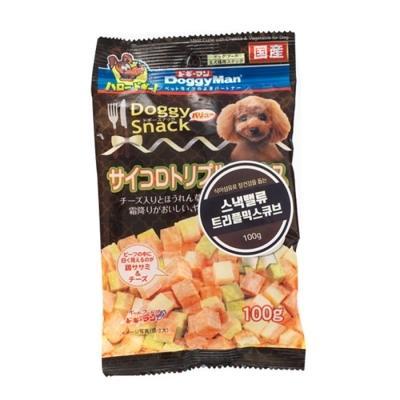 도기맨 스낵밸류 트리플 믹스 큐브 100g 강아지간식