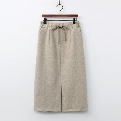 Warm Band Slit Long Skirt