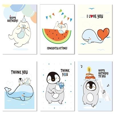 DETOUR 여름 축하 감사 카드 6종 1001-1006