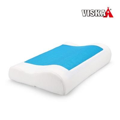 비스카 향균 메모리폼 베개 파도형