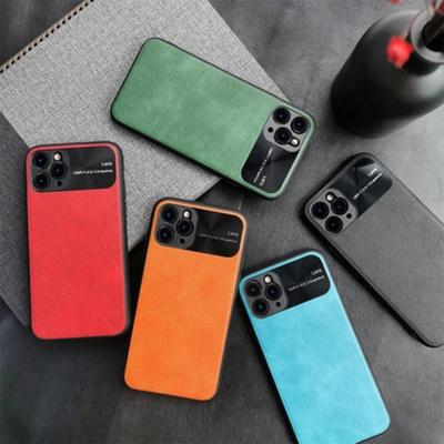 아이폰 SE2 7 8플러스 슬림 가죽 하드 휴대폰 케이스