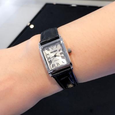 가이거 여성 다이아몬드 메탈 시계(가죽밴드 증정)