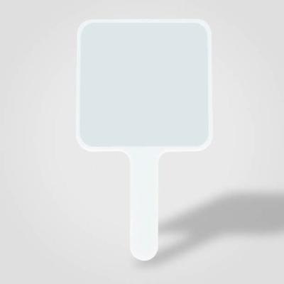 평면 사각손거울 화이트(인쇄진행불가) 손거울 손거울