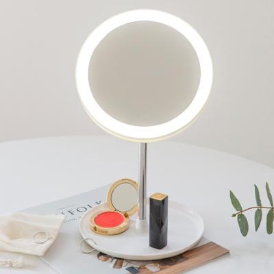 아이린 무선 충전식 LED 화장거울,화이트