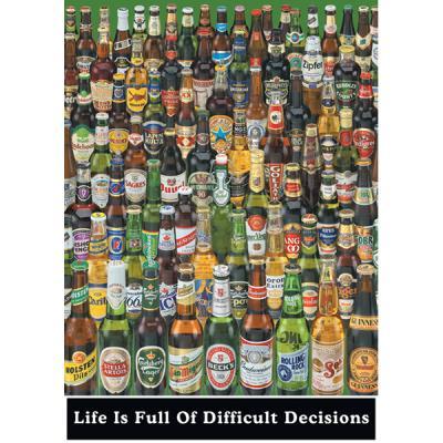 PP0273 인생은 어려운 결정으로 (맥주병)(91x 61)