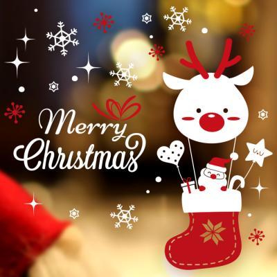 제제데코 크리스마스 눈꽃 스티커 장식 CMS4J243