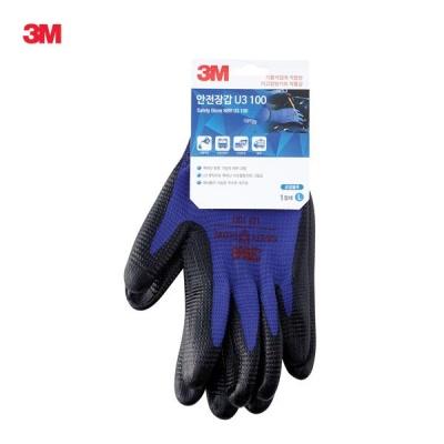 3M 안전장갑 U3 100 (R 블루 L) [00039509]