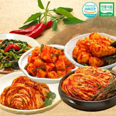 포기김치+깍두기+총각김치+열무김치+맛김치x각1kg