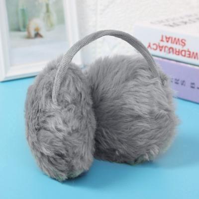 겨울엔 털귀마개(그레이) 보온 방한 귀도리