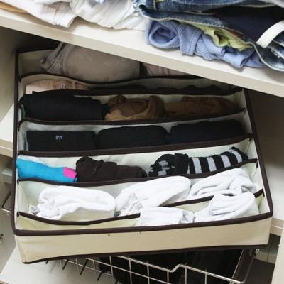7칸 속옷정리함 인테리어 공간 확보 수납 소품정리함