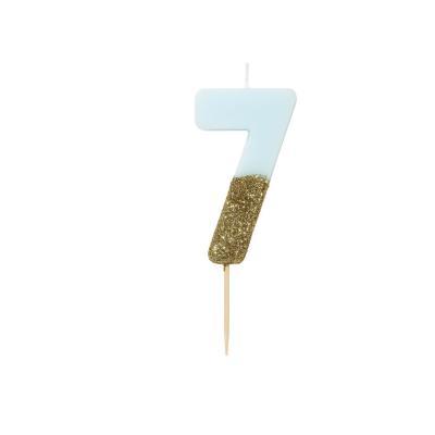 블루 글리터 숫자초 7