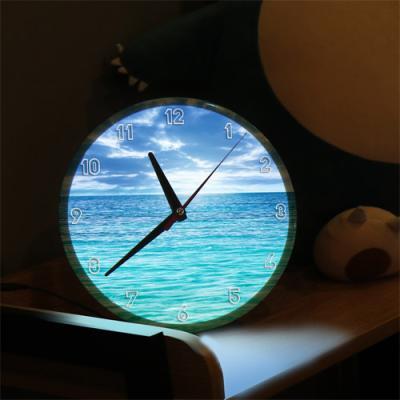 nf233-LED시계액자25R_푸른바다와지평선