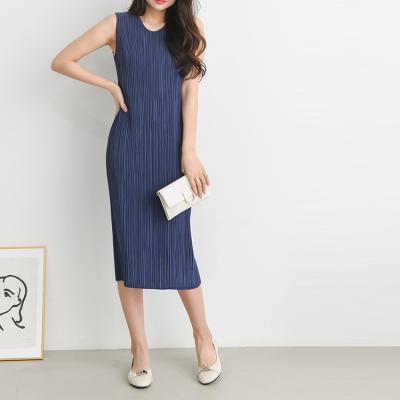 Pleats Erratic Dress - 민소매