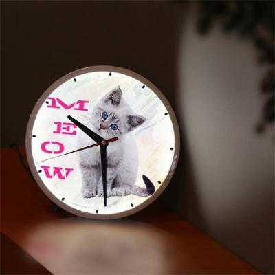 nf285-LED시계액자25R_사랑스런고양이