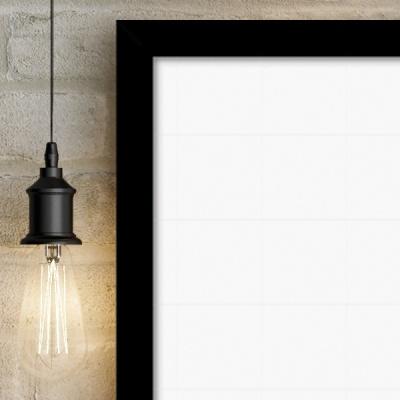 [강경숙칠판]프리미엄 자석 화이트보드(블랙) 60x40