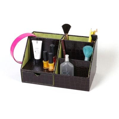 크로커-인조가죽 화장대정리 다용도 수납 정리-2색상