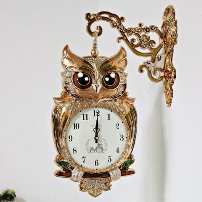 (kmkz0428)트윙클 부엉이 양면시계 (골드)