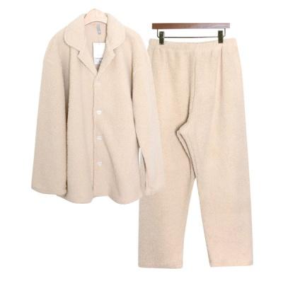 [쿠비카]심플하고 포근한 양털 카라넥 남성잠옷 M213