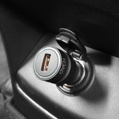 자동차 초고속 충전기 USB 1구 9V 시거잭 퀄컴 인증