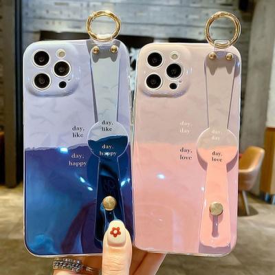 아이폰 12 11 미니 pro max 홀로그램 스트랩 케이스