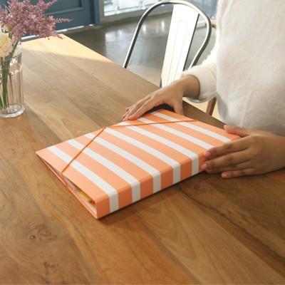 월화수목 바로펀치3공바인더 - 수요일엔 Orange stripe