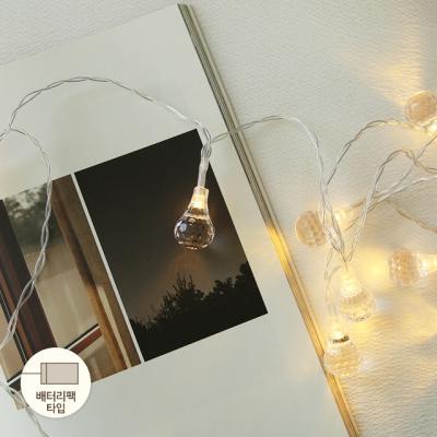 LED 3M 물방울보석전구 (배터리팩)