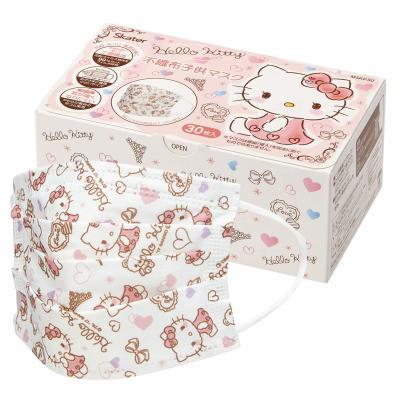헬로키티 어린이용 플리츠 마스크 박스 (30매입)
