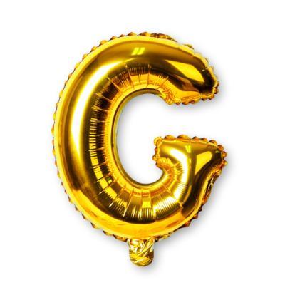골드 알파벳 풍선-G (1개)