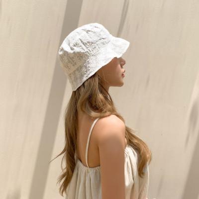 플라워 레이스 숏챙 벙거지 모자 2color