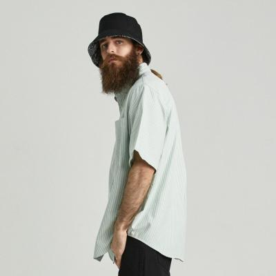 CB 스트라이프 옥스포드 반팔 셔츠 (민트)