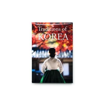 한국 여행마그넷 기념품 단풍한복_인테리어자석