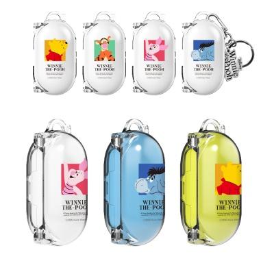 갤럭시버즈/플러스 정품 곰돌이푸 투명케이스 키링set
