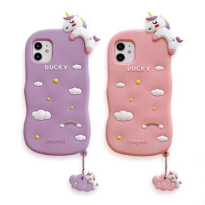 아이폰12 MINI 11 PROMAX  유니콘 실리콘 키링 케이스