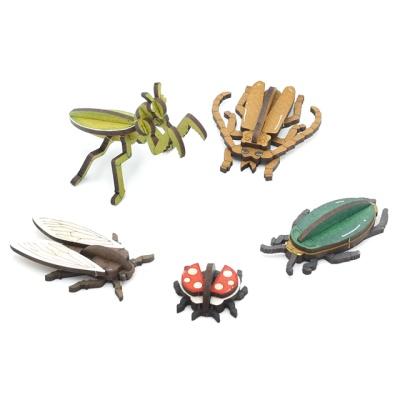 3D입체퍼즐 나무퍼즐 곤충시리즈 5종 만들기 수업 놀이키트 장난감 집콕놀이 취미