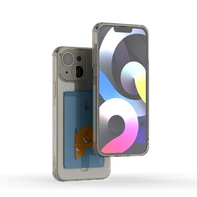 아이폰 13 아이스핏 에드온 TPU 투명 범퍼 카드케이스