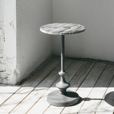 대리석 원형 커피테이블(그레이)