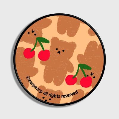 Dot cherry big bear-beige(스마트톡)