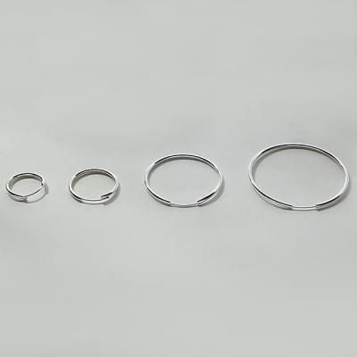제이로렌 91M02018-2cm 순은 파이프 링 실버귀걸이