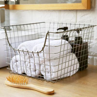 메탈 주방 욕실 수납 정리 정리함 바스켓 바구니 (대)