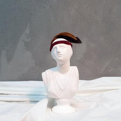 아트 컨셉 석고상 머리띠+깃털+리본 포함