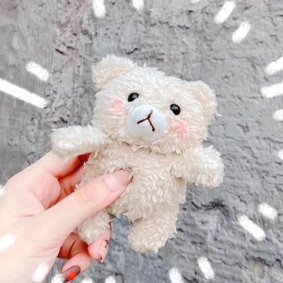 에어팟1/2 테디베어 캐릭터 뜨개질케이스 347아이보리