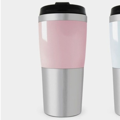 텀블러 물병 물통 음료컵 워터 보틀 핑크 450ml