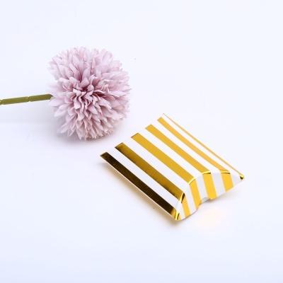 스트라이프 골드S 접이식 선물 포장 상자 종이 케이스