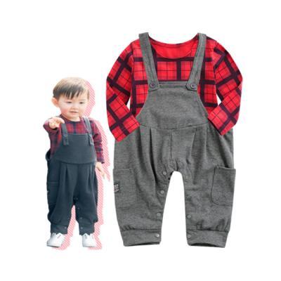 [엠엘스토리] 브롱드 티셔츠 멜빵바지 set
