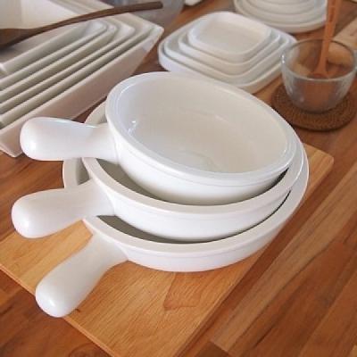Genoa 손잡이 팬 접시 (대) 용기 그릇