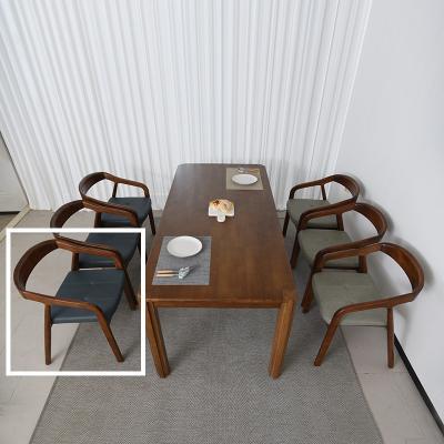 키츠 고무나무 원목 식탁 의자