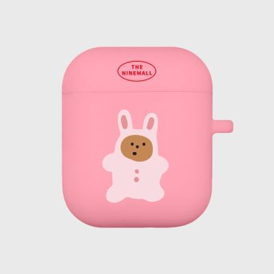 rabbit gummy 에어팟 케이스 [pink]