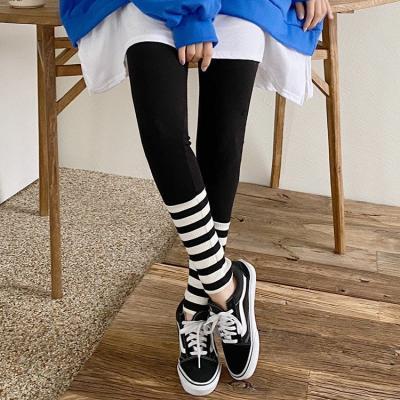 Peach Stripe Leggings