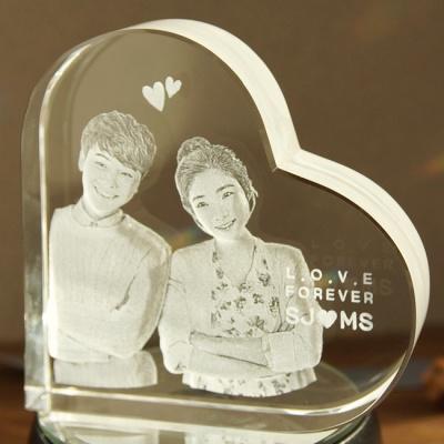 Heart 100 - 인물입체조각 3D크리스탈